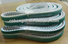 S5M Endless pu timing belt coated with green rubber