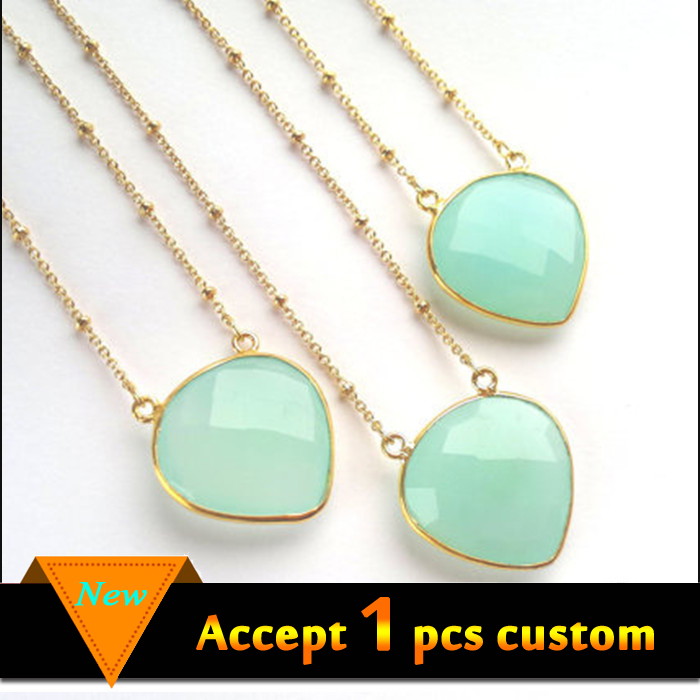 Fashion jewelry 2015 boho style natural gemstone necklace designs