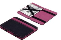 High tech RFID safe artificial leather magic flip wallet