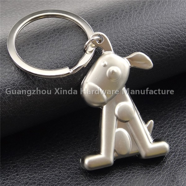 Cheap silver dog shape key chains,dog bone keychain,metal key chain