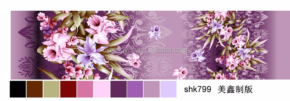 100% polyester microfiber pigment print fabric for home textile, bed sheet with competitive price and quality