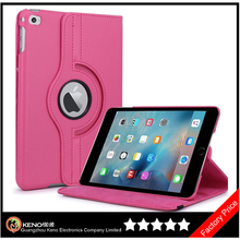 Keno New Arrival For iPad Mini 4 360 Rotating Leather Case