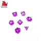 Colored Transparent 7pcs Polyhedral Dice Custom dice set, MTG Pathfinder Table Game Acrylic Dice Set