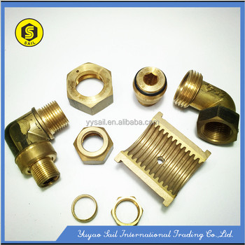 CNC machined spare part with brass material as per design real shoting