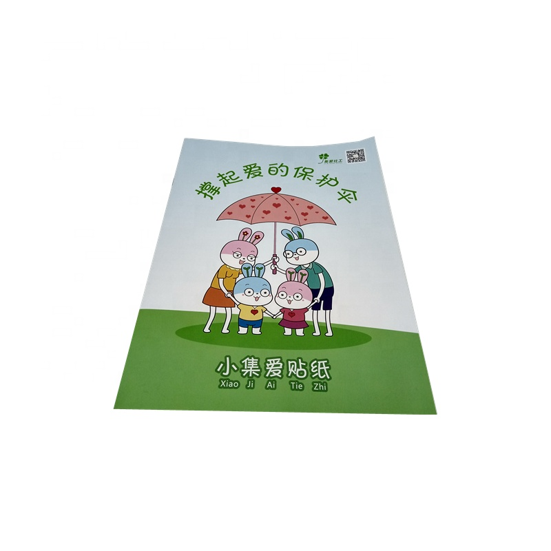 Custom Logo Printed Cheap hardcover children the <strong>book</strong> with stickers