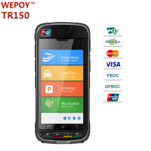 EMV PCI rugged handheld android mobile pos with GPS printer