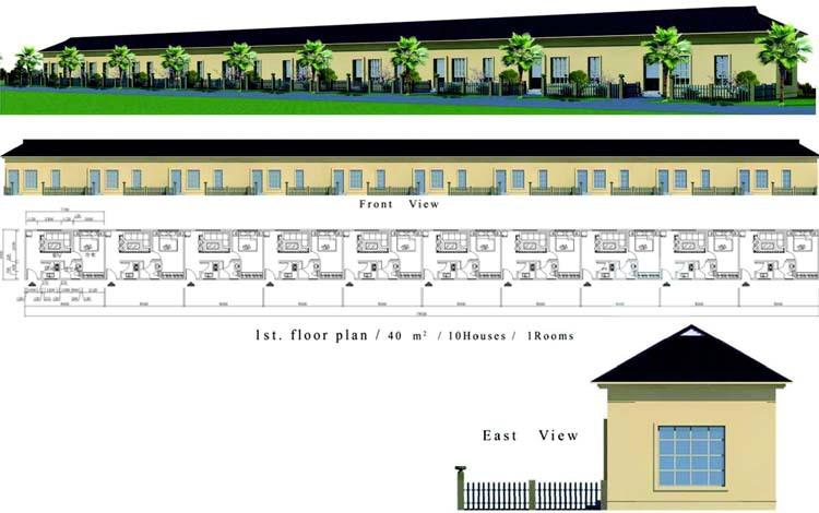 Obon Fast Construction Building Materials Prefab Brick House - Buy Prefab Brick House Product on ...