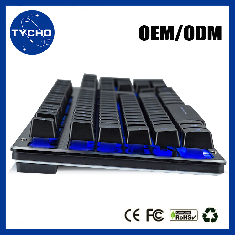 Wholesale Wired Gaming Led Keyboard Colorful Led Keyboard Metal Gaming Suspend Keyboard