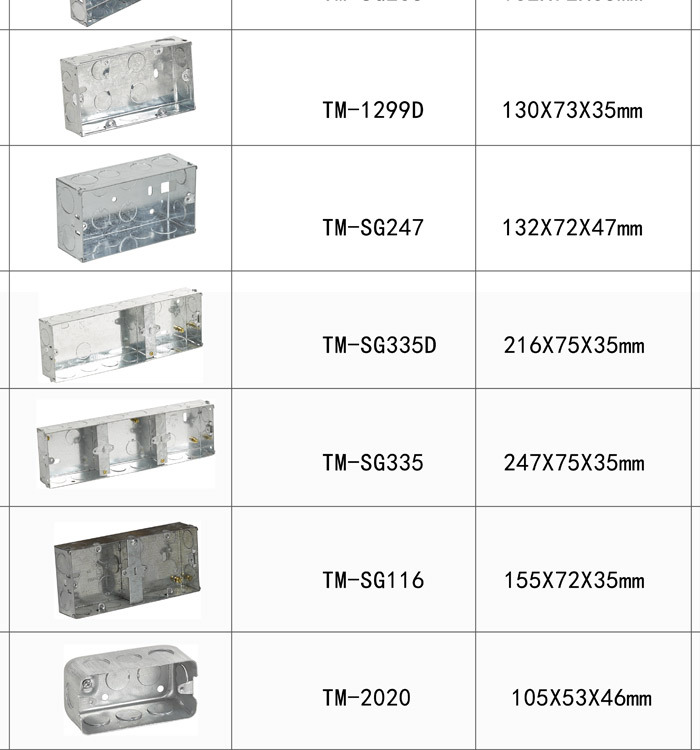 wall switches single gang wall mount light enclosure modular switch rh alibaba com Outdoor Wiring Box Wire Inbox