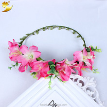 Hot sale fabric garland party decorations Bride flower crown 58167