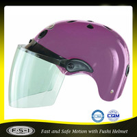 Cheap women purple mini motorcycle half helmet