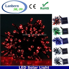 Wholesale abibaba rgb or single color holiday gift waterproof solar light 5m 50leds diwali decoration items