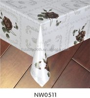 NW0511 Rose Plastic Fabric Painting Designs on Table Cloth