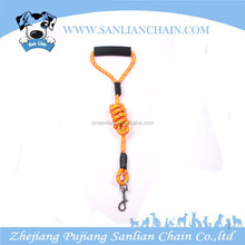 wholesale nylon dog collar and leash with rubber handle pet leashes