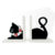 Black Cat Design Wooden Carve Bookens Home Decoration & Gift & Souvenir