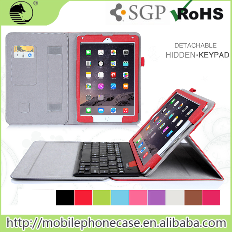 Factory Suppliers Fashionable Tablet Keyboard Case for iPad Air 2 tablet case with keyboard