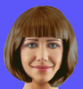 Hot selling brown BOB wig short wig cosplay wig