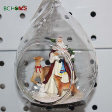 Christmas Glass Ornament With Custom Resin Figure Inside