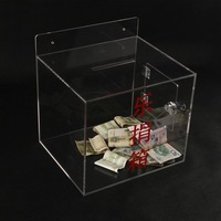 acrylic charity collection tender box
