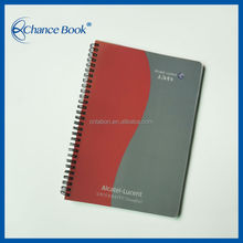 Cheap Clear PP Cover Spiral Notebook