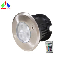 Color Changing <strong>RGB</strong> 3W IP68 Under Water LED Light with Remote Control