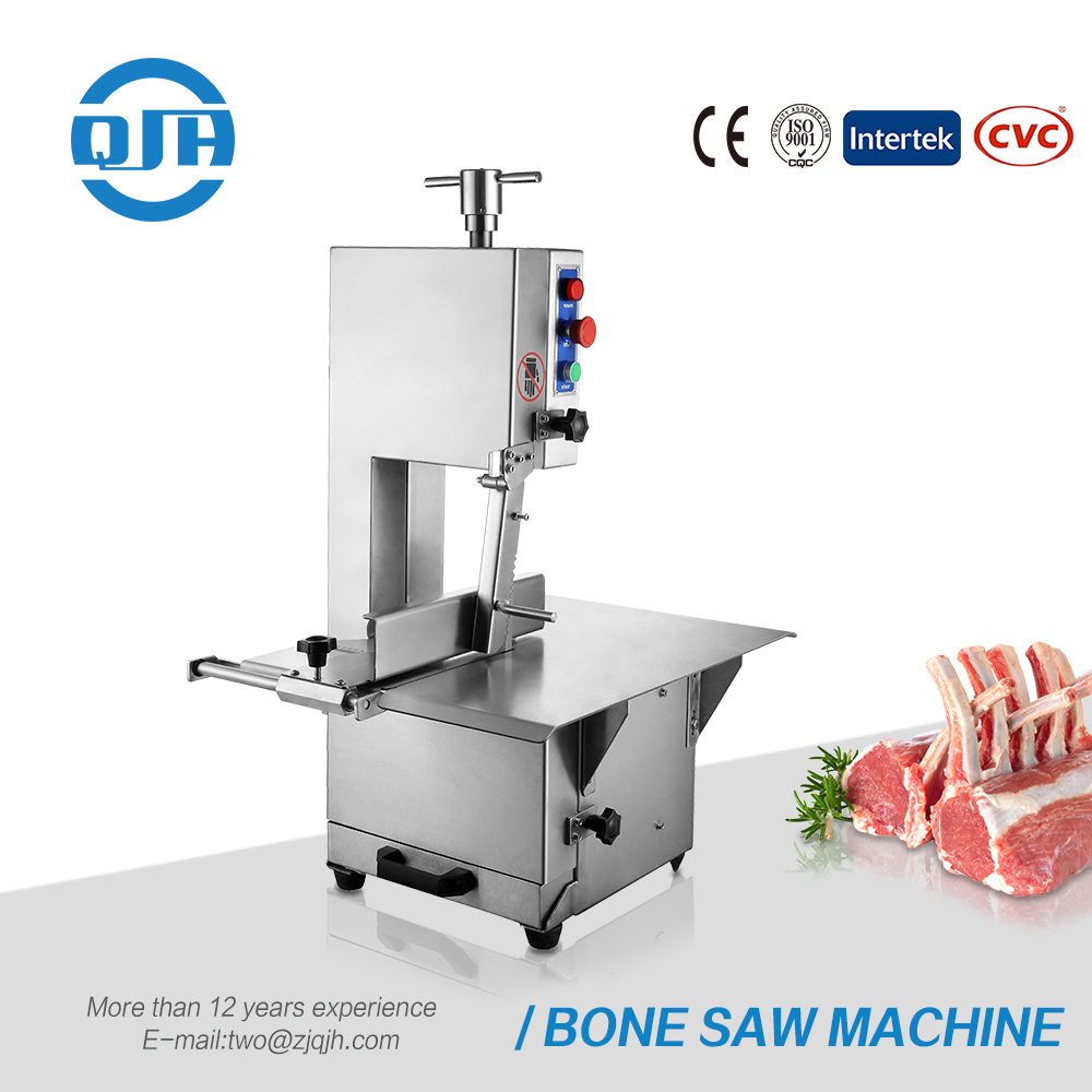 Stainless steel electric restaurant kitchen food processing machinery meat band saws pork mutton beef bone saw for sale