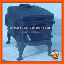 Solid fuel wood burning cast iron cooking stoves