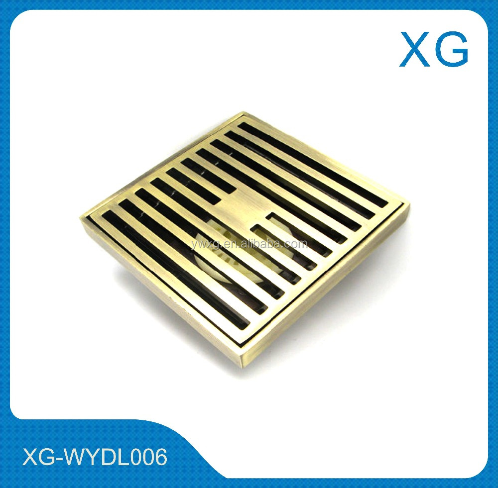 Bronze color Stainless steel linear floor drain/Square shower floor drains/4 inch stainless steel without magnetic floor drain