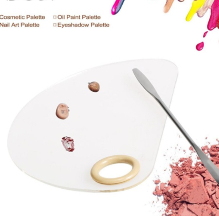 Acrylic Cosmetic Eyeshadow Nail Art tainless Steel Makeup Mixing Palette