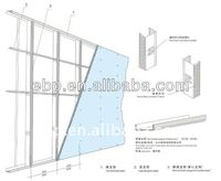 Metal track for dry wall system