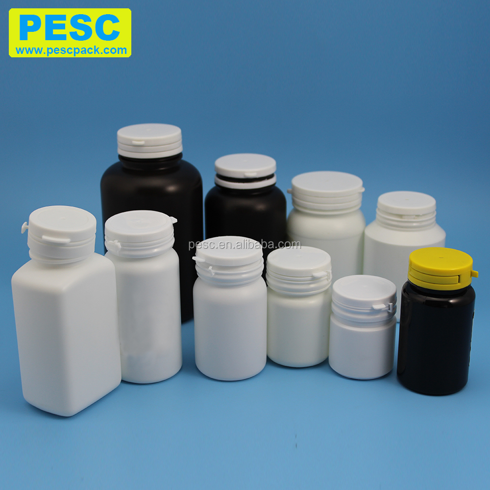 50cc 80cc 100cc 150cc 200cc 250cc 500cc pe pill bottle capsule plastic bottle chewing gum bottle with tear off cap
