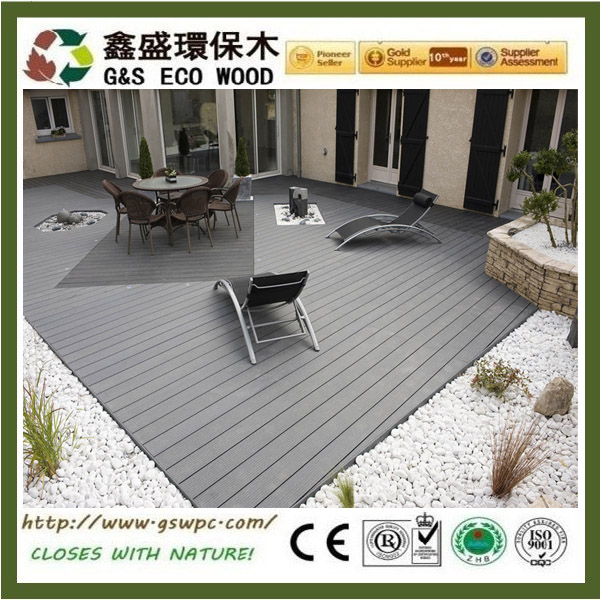 High quality outdoor wood plastic laminate decking waterproof wpc flooring