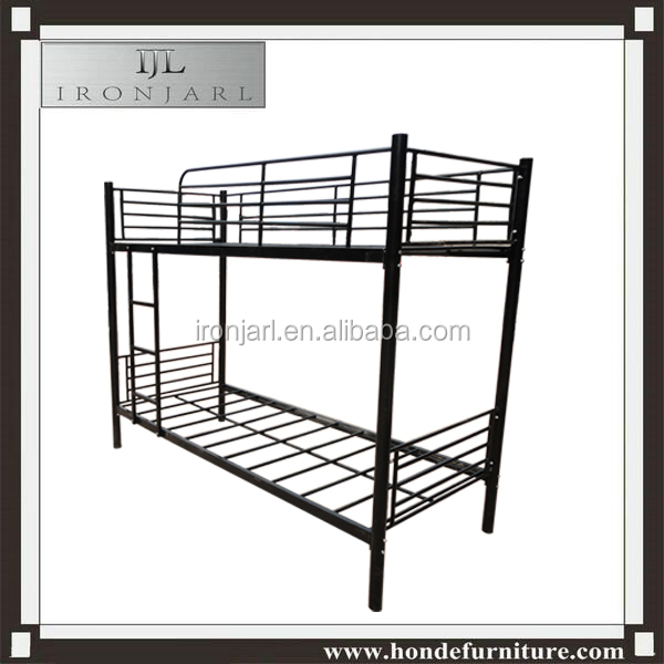 Powder-coated Metal Bunk Bed, Made of Iron Tubes, Suitable for Children and Schools