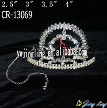 cute clear rhinestone pageant cat crown