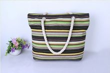stripe canvas beach tote bag wholesale taobao bag