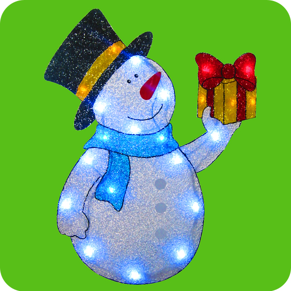 Snowman with lights for outdoors christmas decorations