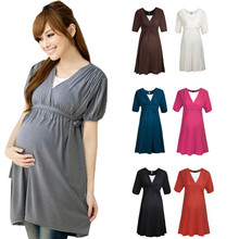VVM01 korean design maternity dress wholesale maternity tops