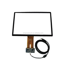 Anti-glare Capacitive Touch Screen Panel for Car Navigation with USB plug controller