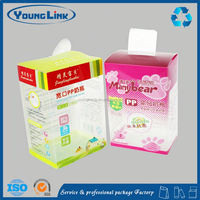 clear tulip style favor pvc box with handle