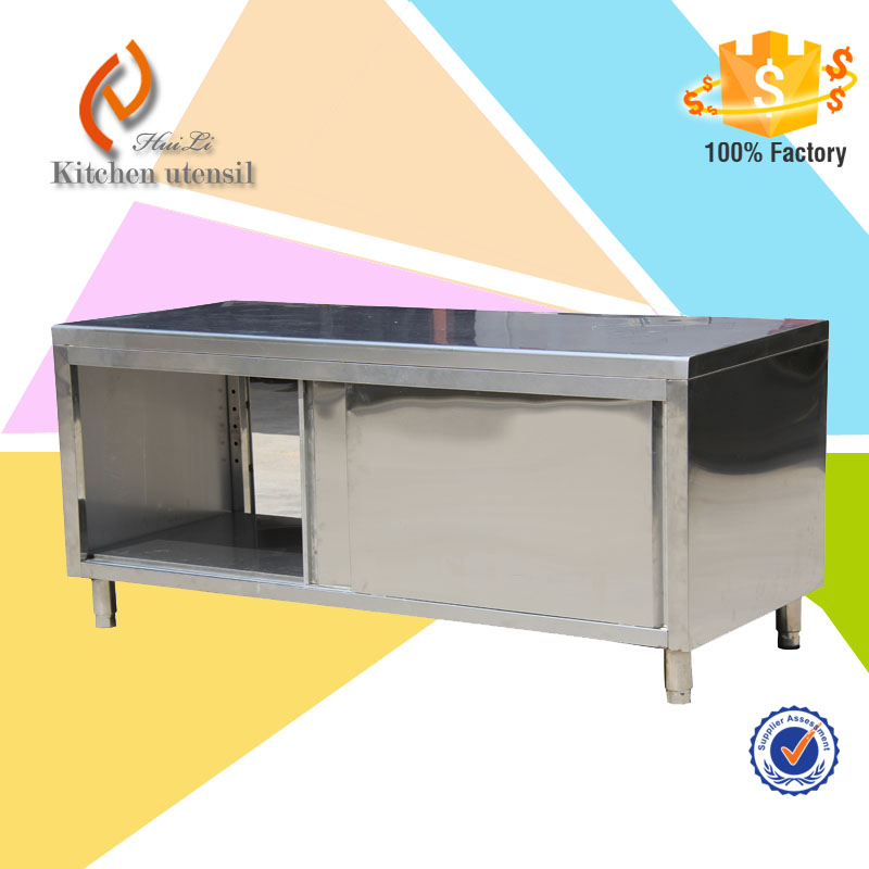 Stainless steel single deck cabinet burger restaurant for Cheap metal kitchen cabinets