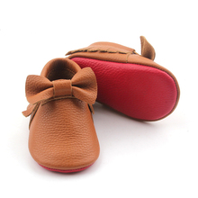 Genuine Leather Red Bottom Shoes Wholesale Unisex Moccasins Baby