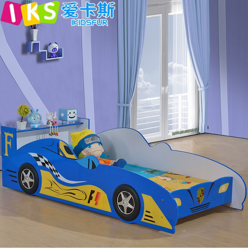 Cool design F1 racing car bed kids furniture Blue/Red
