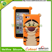 Wholesale 3D cartoon Silicon Gel phone Rubber Case mobile Cover Skin