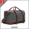 2017 Canvas PU Leather Travel Tote Duffel Bag Carry on Bag Weekender Overnight Bag