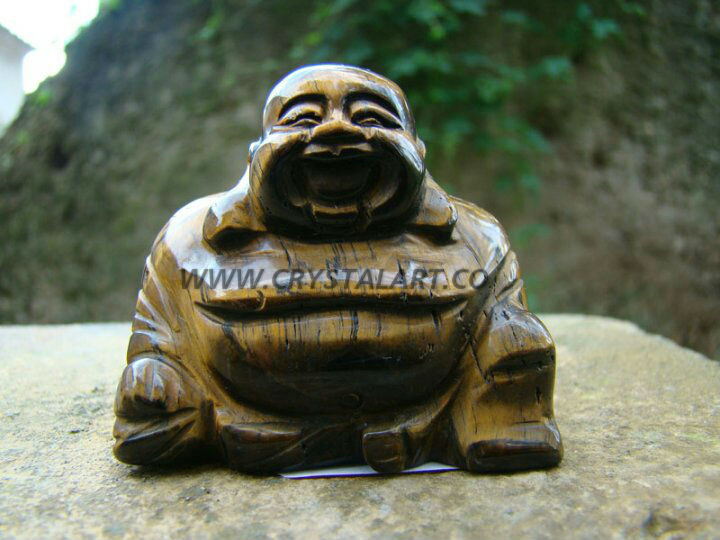 Tiger eye Happy Buddha