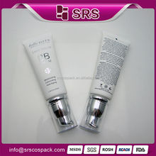 Wholesale Empty Pump Straight Round BB Cream Face Eye Cream Containers And Cosmetic Packaging Plastic Tube