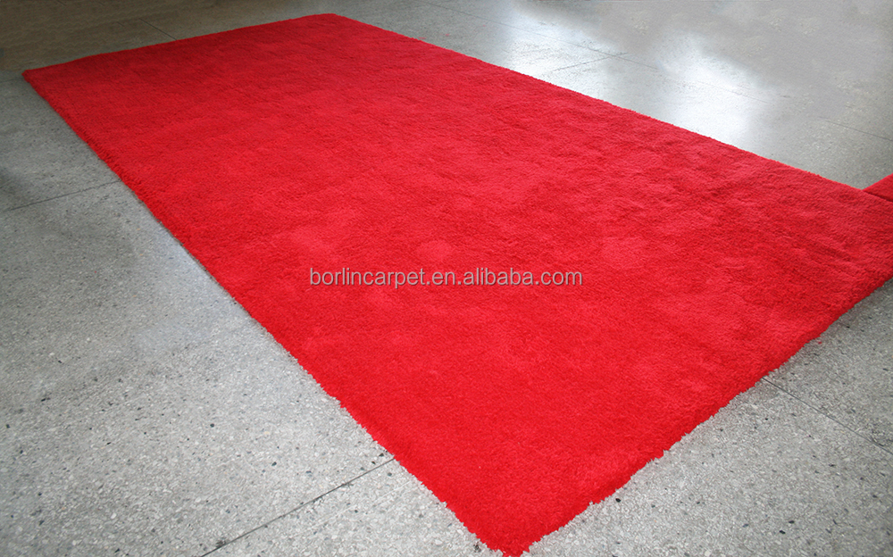 New Manufacturing Cut Pile Anti-Skid Axminster Red Carpet Runner
