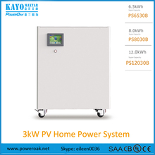 all in one 3000w 220V~240V 50HZ lithium battery household solar energy storage system standby power