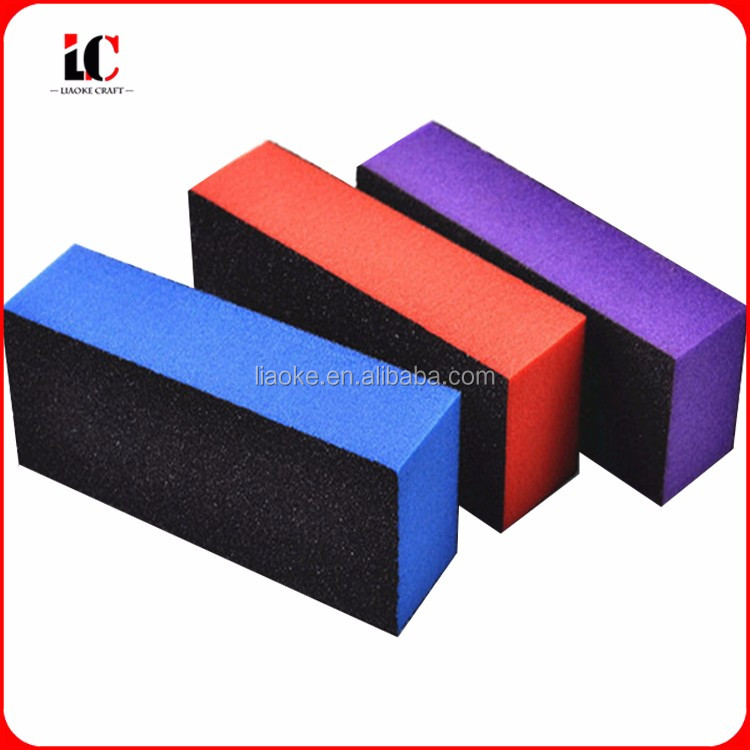Promotion colorful magic four sides nail file buffer blocks