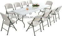 8FT Cheap Plastic Blow Mold Fold Table and Chairs For Wholesale